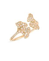 yellow gold white diamond unique engagement ring