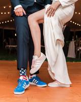vanessa steven wedding shoes reception sneakers