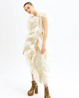 vivienne westwood spring 2019 sheath wedding dress floral ruffles