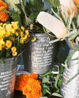 galvanized buckets floral seating arrangements