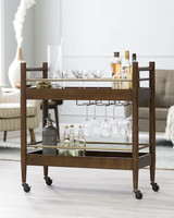 wood anniversary gift bar cart