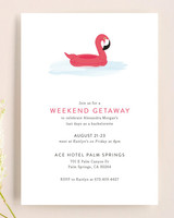 bachelorette party invites minted flamingo