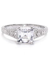 Beverley K Asscher Cut Diamond Engagement Ring