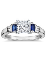 Blue Nile Princess-Cut Engagement Ring