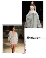 Spring 2018 Bridal Fashion Week Feather Trend