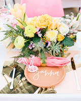 bridal shower centerpiece with succulents and roses