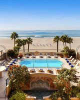 city meets beach hotel casa del mar pool palm trees