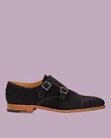 """John Lobb """"William"""" Suede Double Monk-Strap Shoes"""