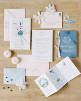 classic invitation quality paper vellum wax seal and calligraphy