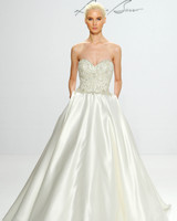 Beaded Strapless Princess Wedding Gown with Pockets