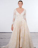 dennis basso wedding dress fall 2018 v-neck