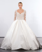 dennis basso wedding dress fall 2018 ballgown long sleeve