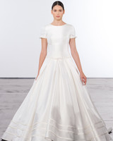 dennis basso a-line wedding dress with sleeves wedding fall 2018