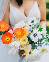 elizabeth jake georgia wedding bouquet poppies