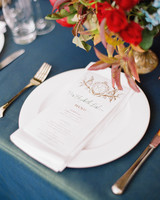 glara matthew wedding placesetting