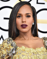 Kerry Washington Beauty Look Golden Globes