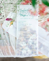 hayleigh corey wedding program pouch
