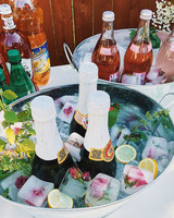 bridal shower ideas frozen floral blooms wine stand