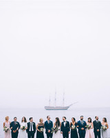 wedding bridal party ship ocean