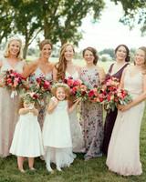 jen geoff wedding bridesmaids and flower girls