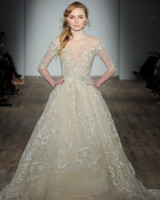 lazaro three quarter sleeve wedding dress spring 2018