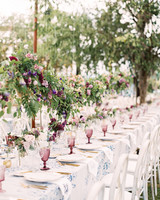 julia mitchell wedding reception table