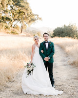 kiersten ruairi wedding couple