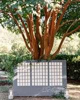 linda robert wedding escort card tree