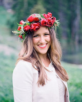 Big Red Flower Crown