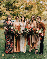 mismatched bridesmaids dresses sara monika