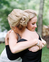 Bride and Mother Hugging