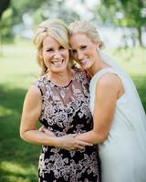 A Bride Hugging Her Mom