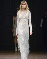 naeem khan long sleeve sheath wedding dress spring 2018