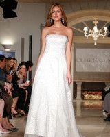 oleg cassini wedding dress fall 2018 strapless beaded overlay
