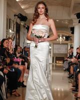 oleg cassini wedding dress fall 2018 strapless fold over shine
