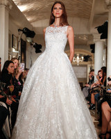 oleg cassini wedding dress fall 2018 sleeveless lace ball gown