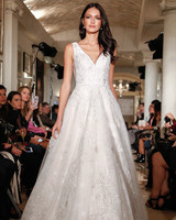 oleg cassini wedding dress fall 2018 deep v sleeveless a-line