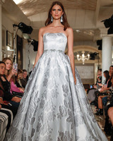 oleg cassini wedding dress fall 2018 strapless ball gown embellished
