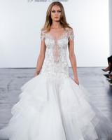 pnina tornai fall 2018 embellished top trumpet wedding dress