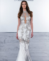 pnina tornai fall 2018 high neck trumpet wedding dress