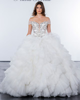 pnina tornai fall 2018 off shoulder wedding ballgown