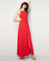 red bridesmaid dress fame parters backless