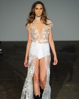 rime arodaky fall 2018 sheer overlay wedding dress
