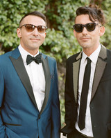 grooms wearing sunglasses