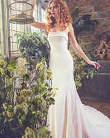 Strapless Sareh Nouri Mermaid Wedding Dress Spring 2018