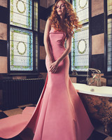 Pink Sareh Nouri Mermaid Wedding Dress Spring 2018