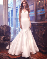 Sareh Nouri Mermaid Wedding Dress with V-Neck Spring 2018