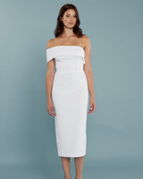 "Katie May ""Apollo"" Short Bridesmaid Dress with Off-the-Shoulder Strap"