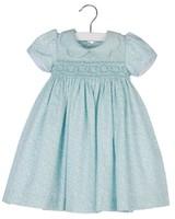 Aqua Blue Smock Dress
