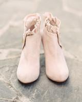 pink bridal booties
